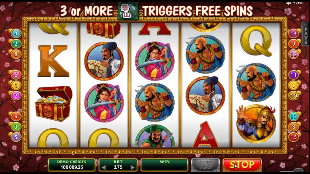 108 Heroes Slot Machine - How to Play