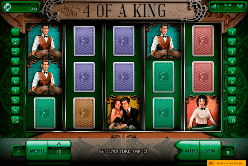 4 of a King Slot Machine - How to Play