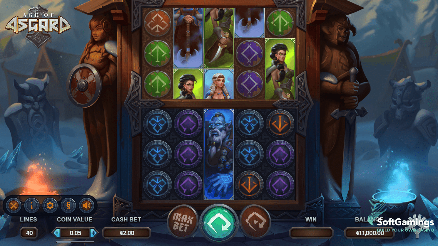 Age of Asgard Slot Game Symbols and Winning Combinations