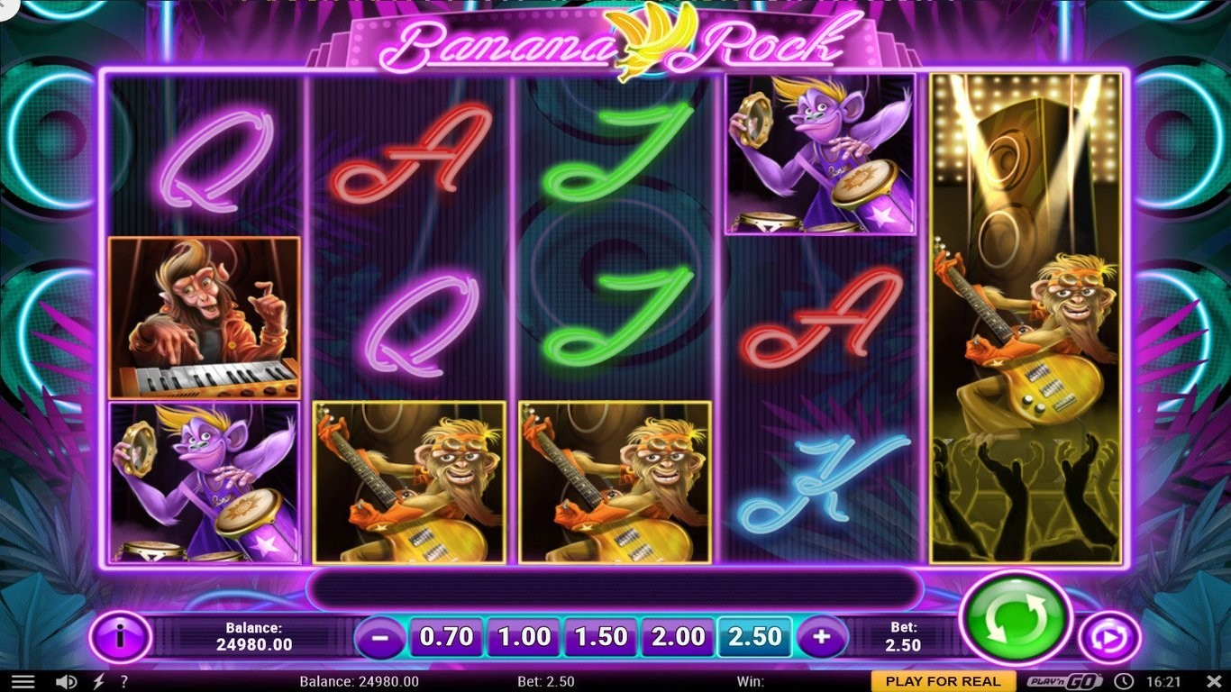 Banana Rock Slot Machine - How to Play