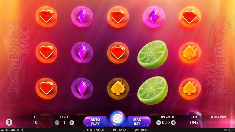 Berry Burst Max Slot Game Symbols and Winning Combinations
