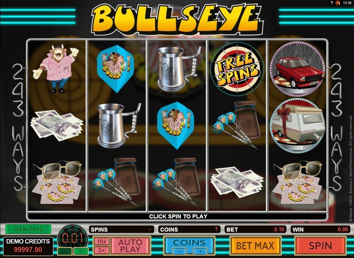 BullsEye Slot Game Symbols and Winning Combinations