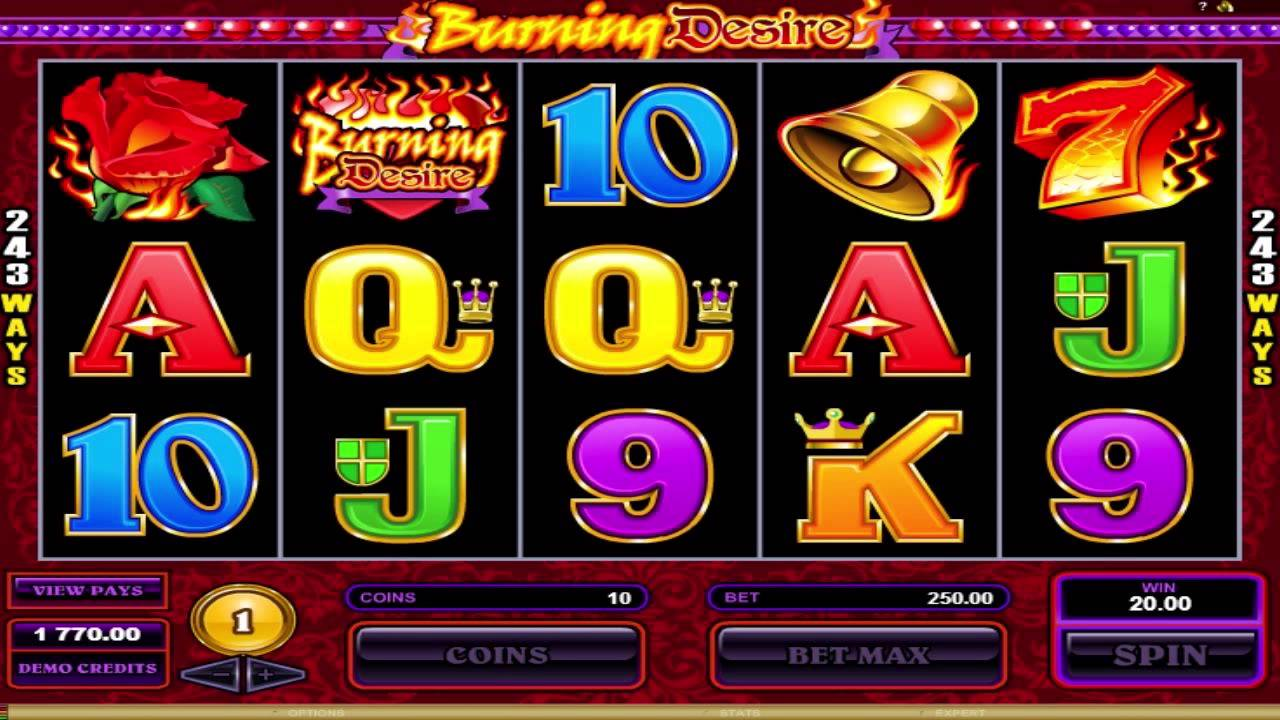 Burning Desire Slot Game Symbols and Winning Combinations