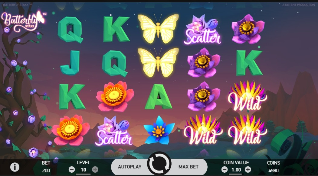 Butterfly Staxx Slot Machine - How to Play