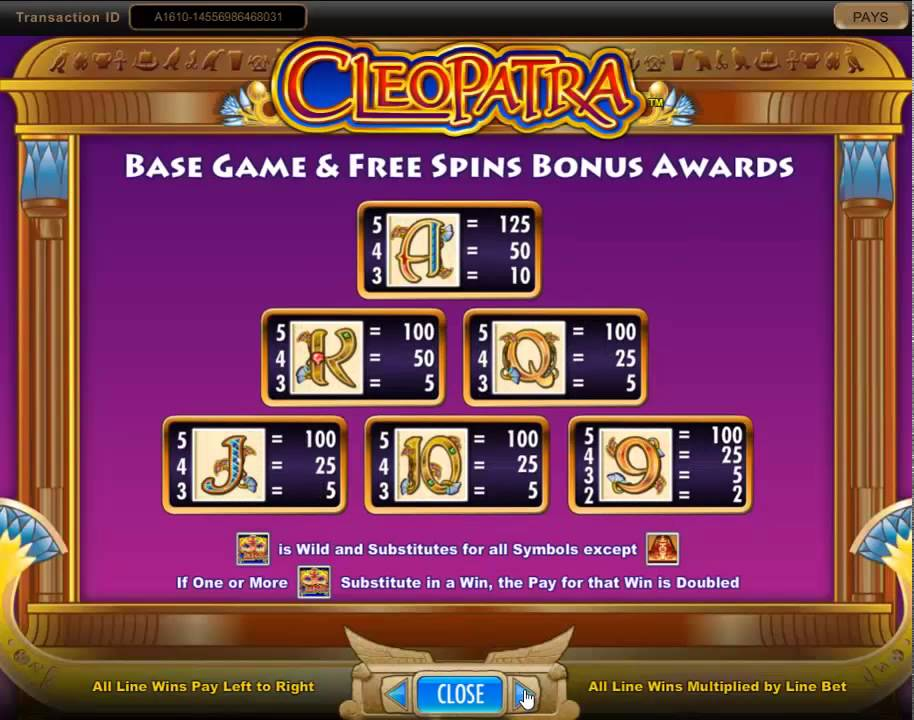 Cleopatra Slot Game Symbols and Winning Combinations