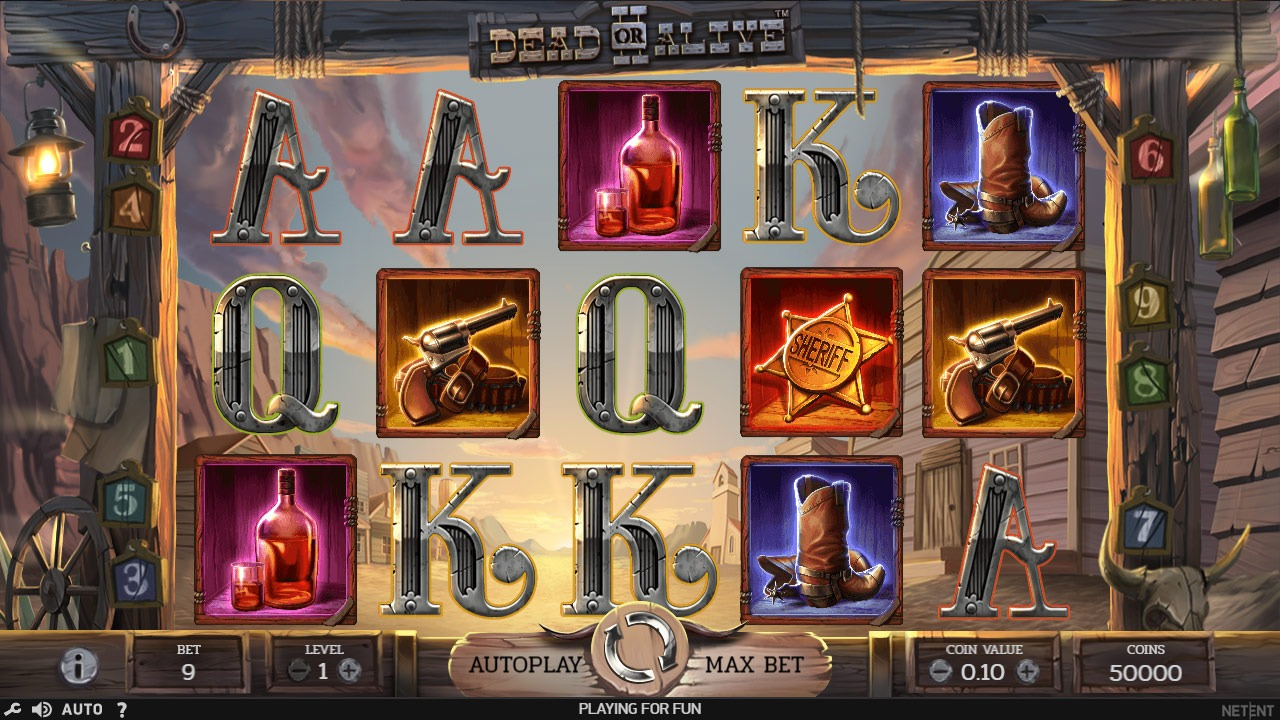 Dead or Alive Slot Machine - How to Play