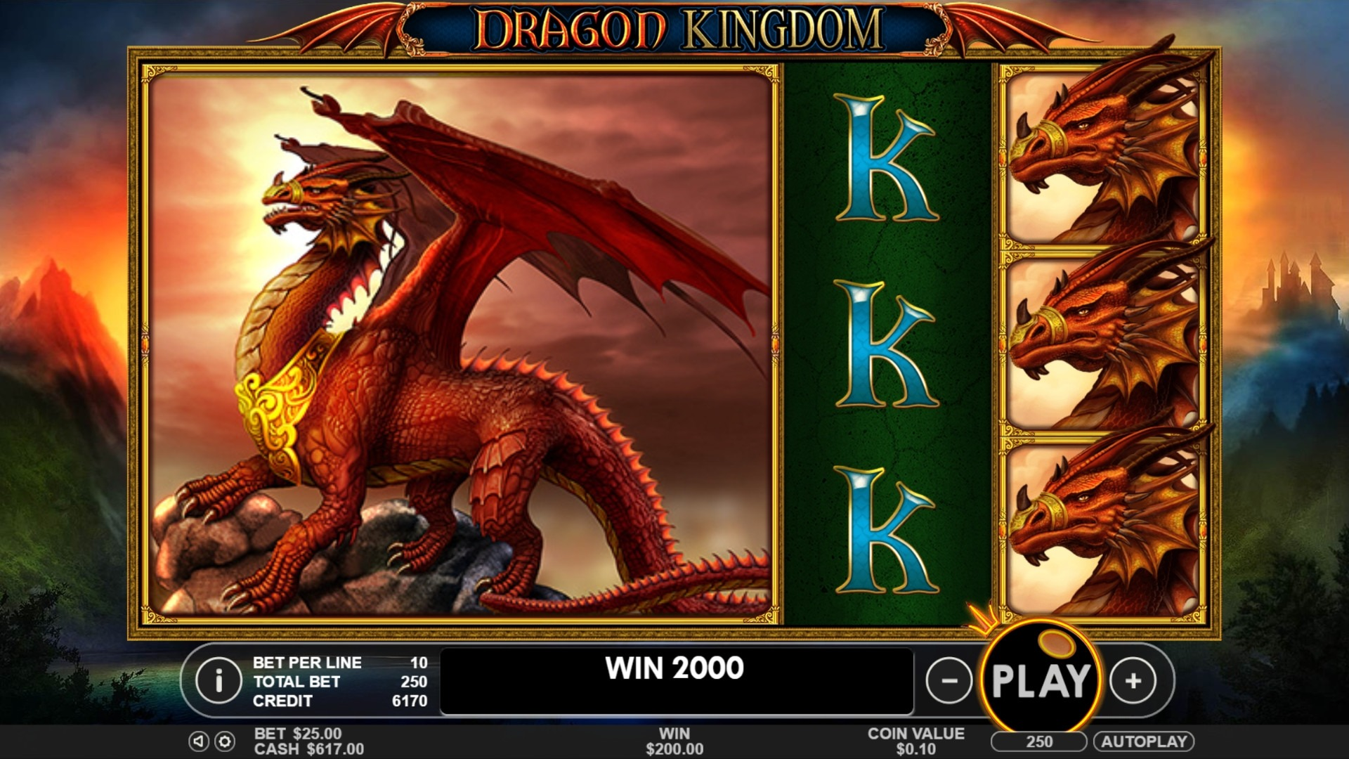 Dragon Kingdom Slot Game Symbols and Winning Combinations