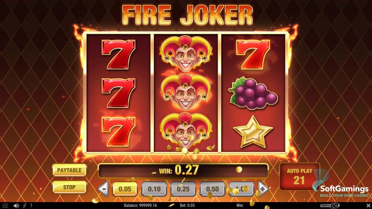 Fire Joker Slot Machine - How to Play
