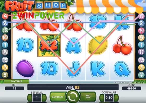 Fruit Shop Slot Machine - How to Play