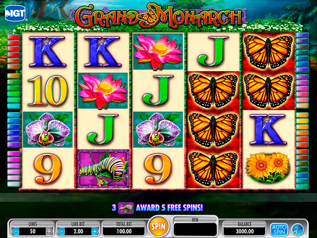 Grand Monarch Slot Machine - How to Play