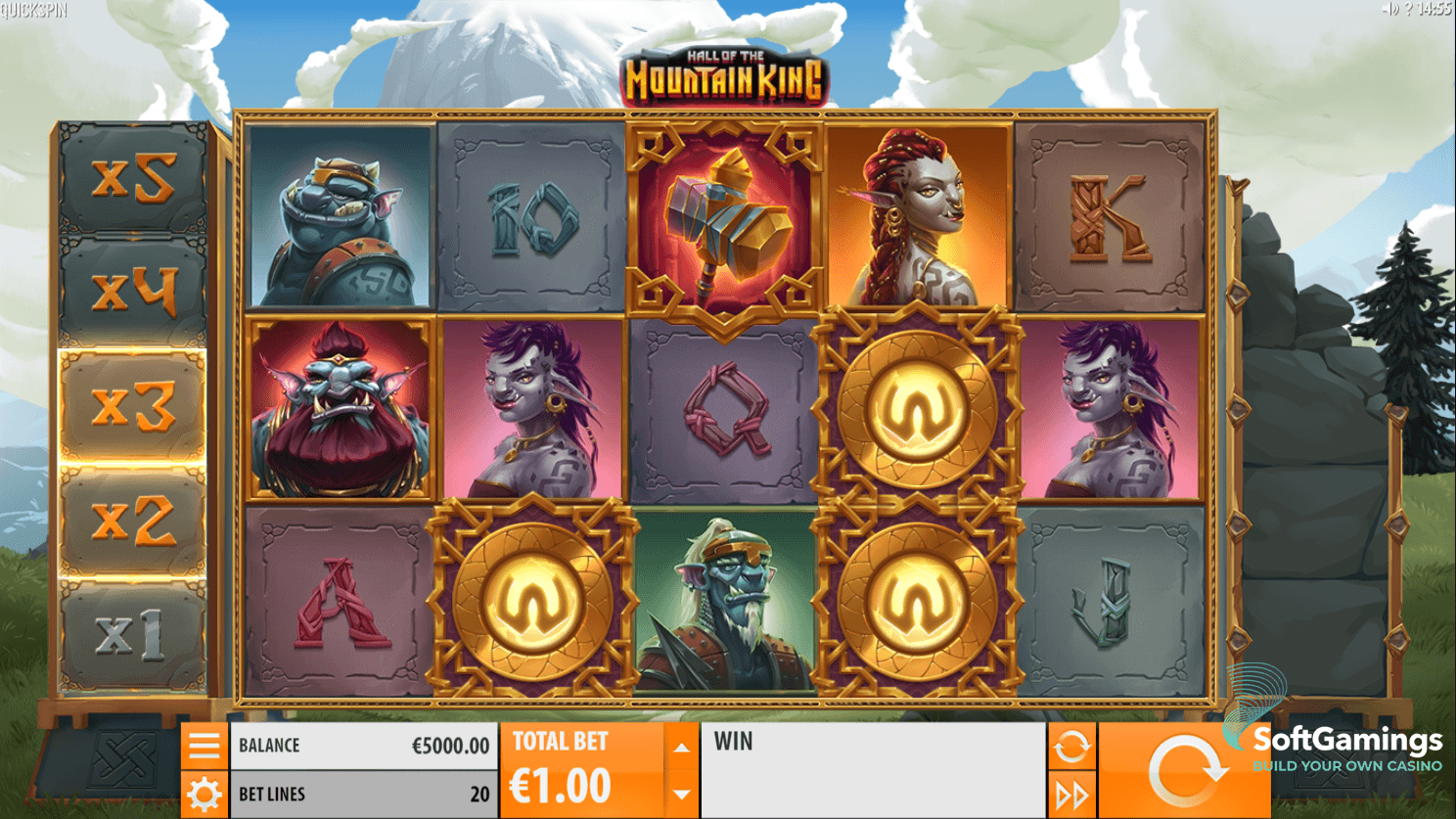 Hall of the Mountain King Slot Machine - How to Play