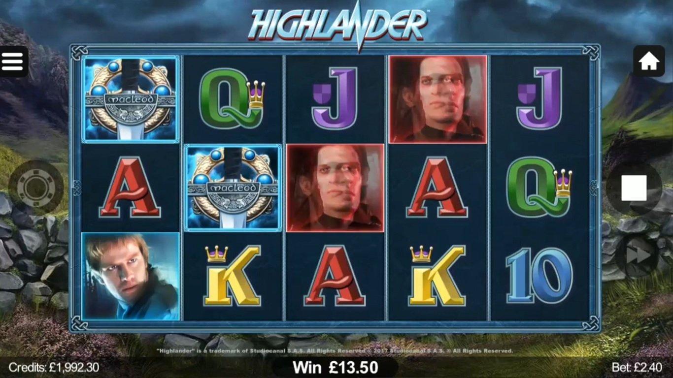 Highlander Slot Game Symbols and Winning Combinations