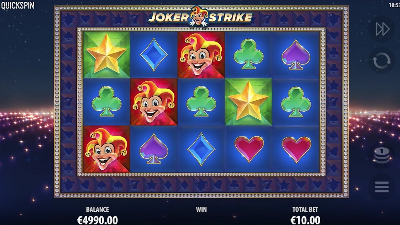 Joker Strike Slot Game Symbols and Winning Combinations