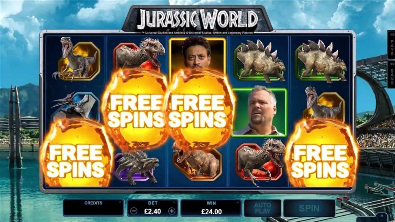 Jurassic World Slot Machine - How to Play