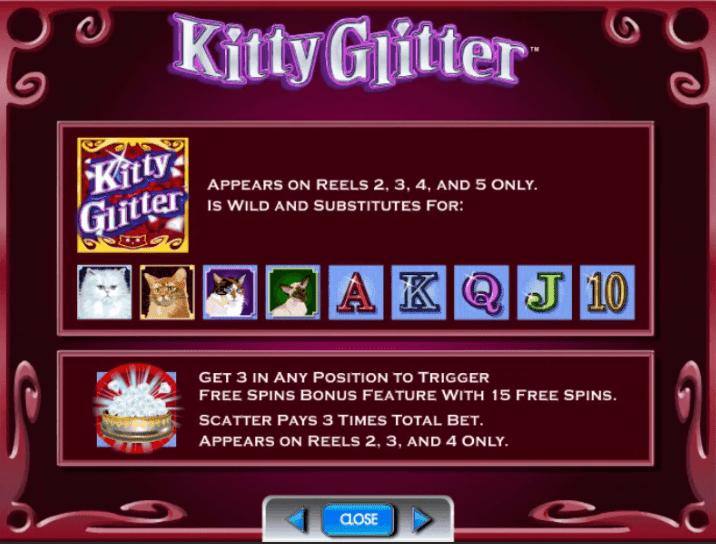 Kitty Glitter Slot Game Symbols and Winning Combinations