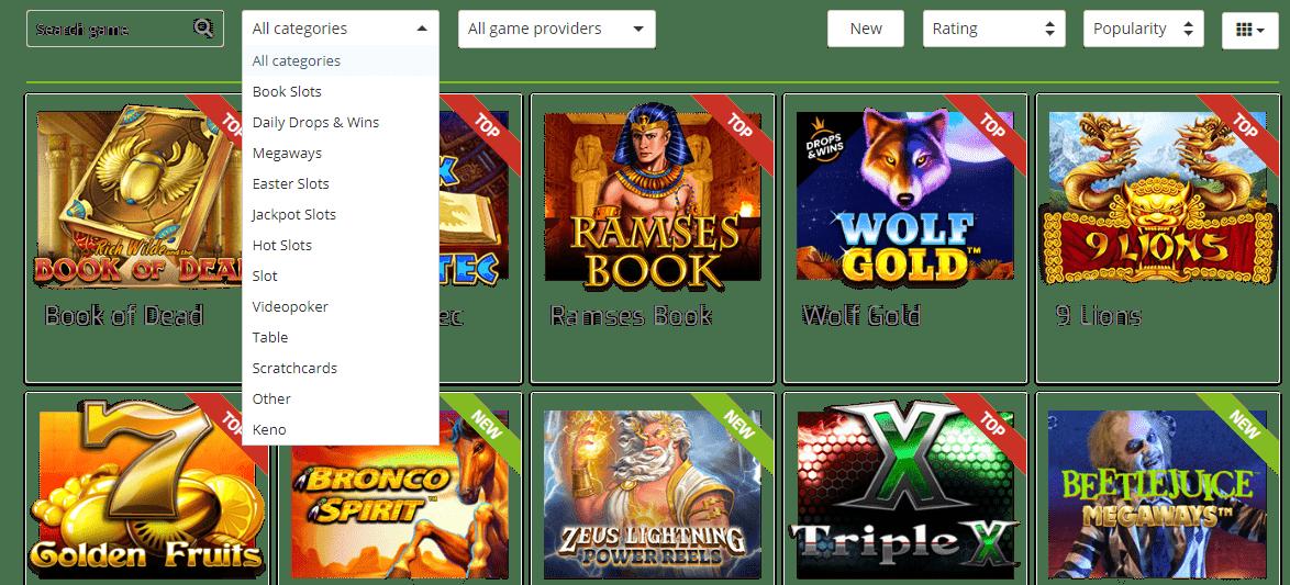 lapalingo casino games