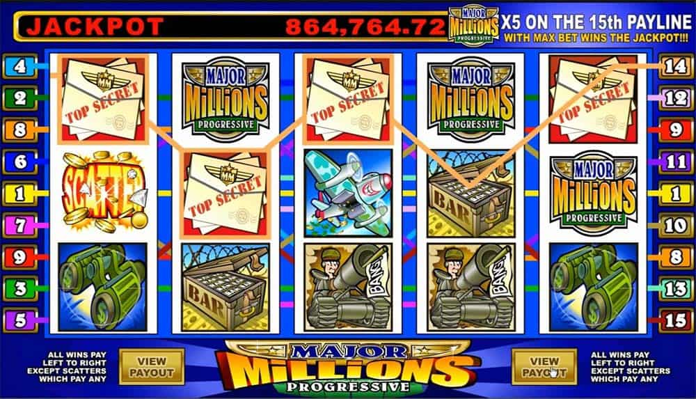 Major Millions Slot Machine - How to Play