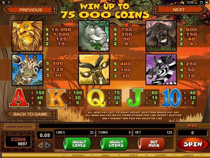 Mega Moolah Slot Game Symbols and Winning Combinations