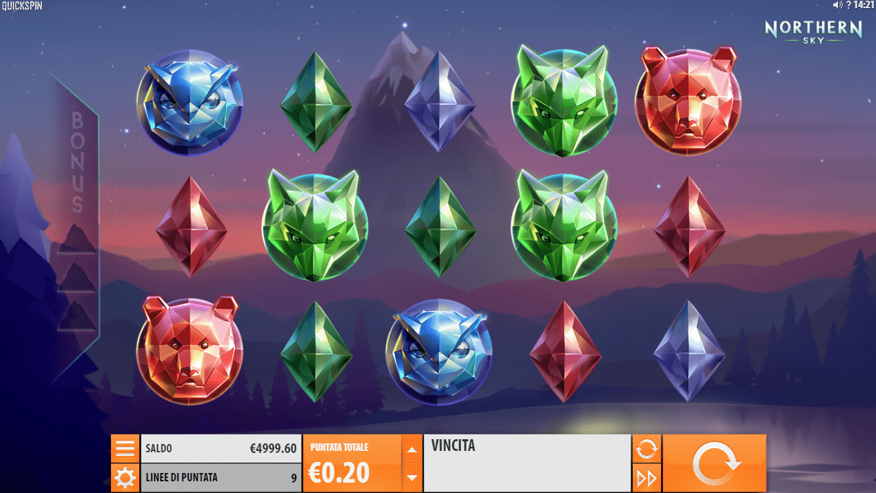 Northern Sky Slot Game Symbols and Winning Combinations