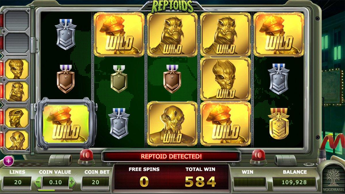 Reptoids Slot Machine - How to Play