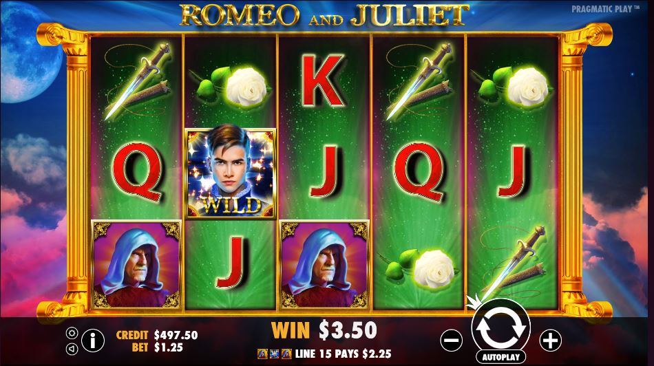 Romeo and Juliet Slot Game Symbols and Winning Combinations