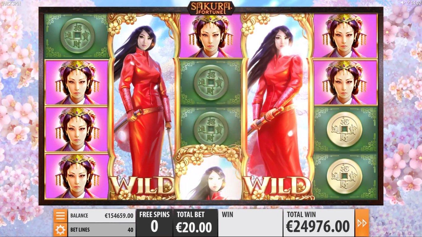 Sakura Fortune Slot Machine - How to Play