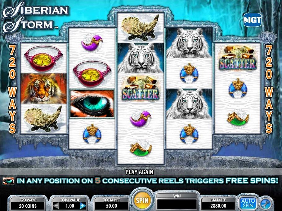 Siberian Storm Slot Machine - How to Play