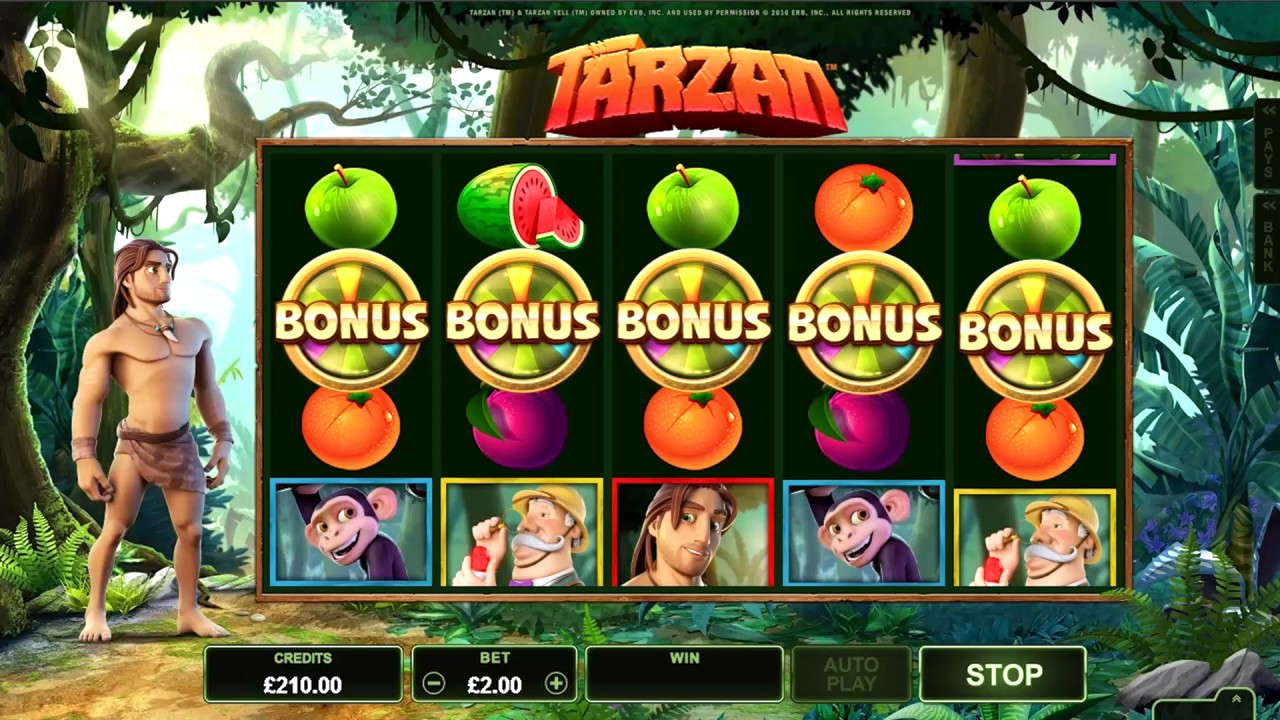 Tarzan Slot Machine - How to Play