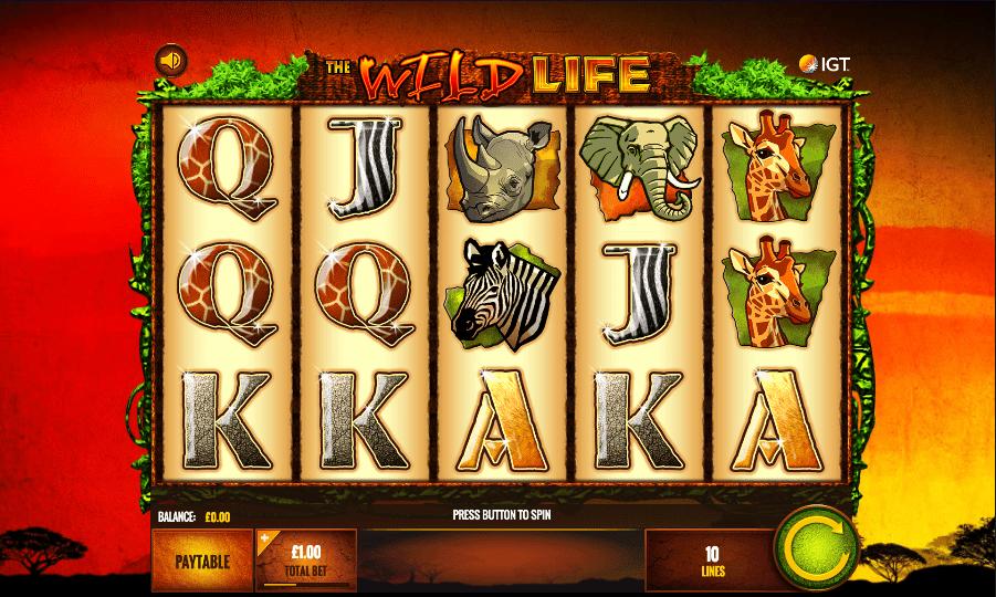 Wild Life Slot Machine - How to Play