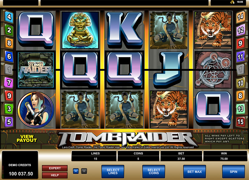 The Tomb Raider Slot Game Symbols and Winning Combinations