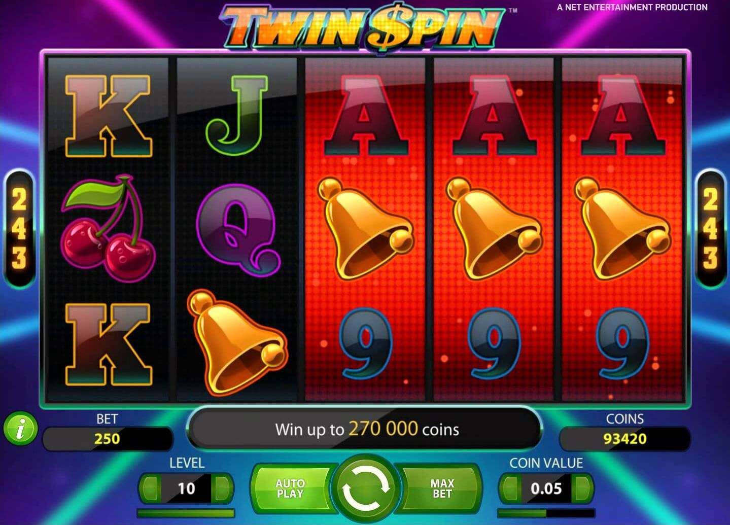 Twin Spin Slot Game Symbols and Winning Combinations