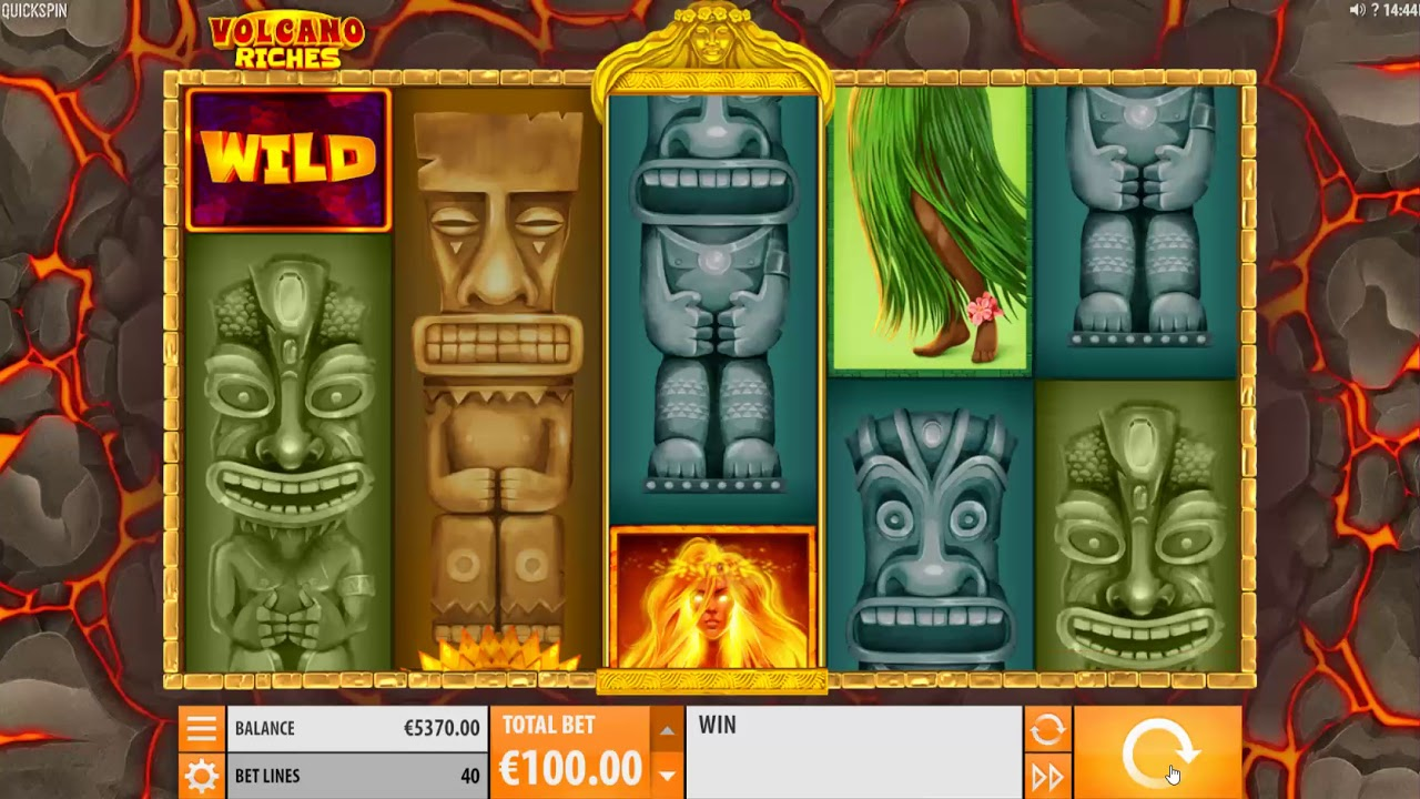 Volcano Riches Slot Machine - How to Play