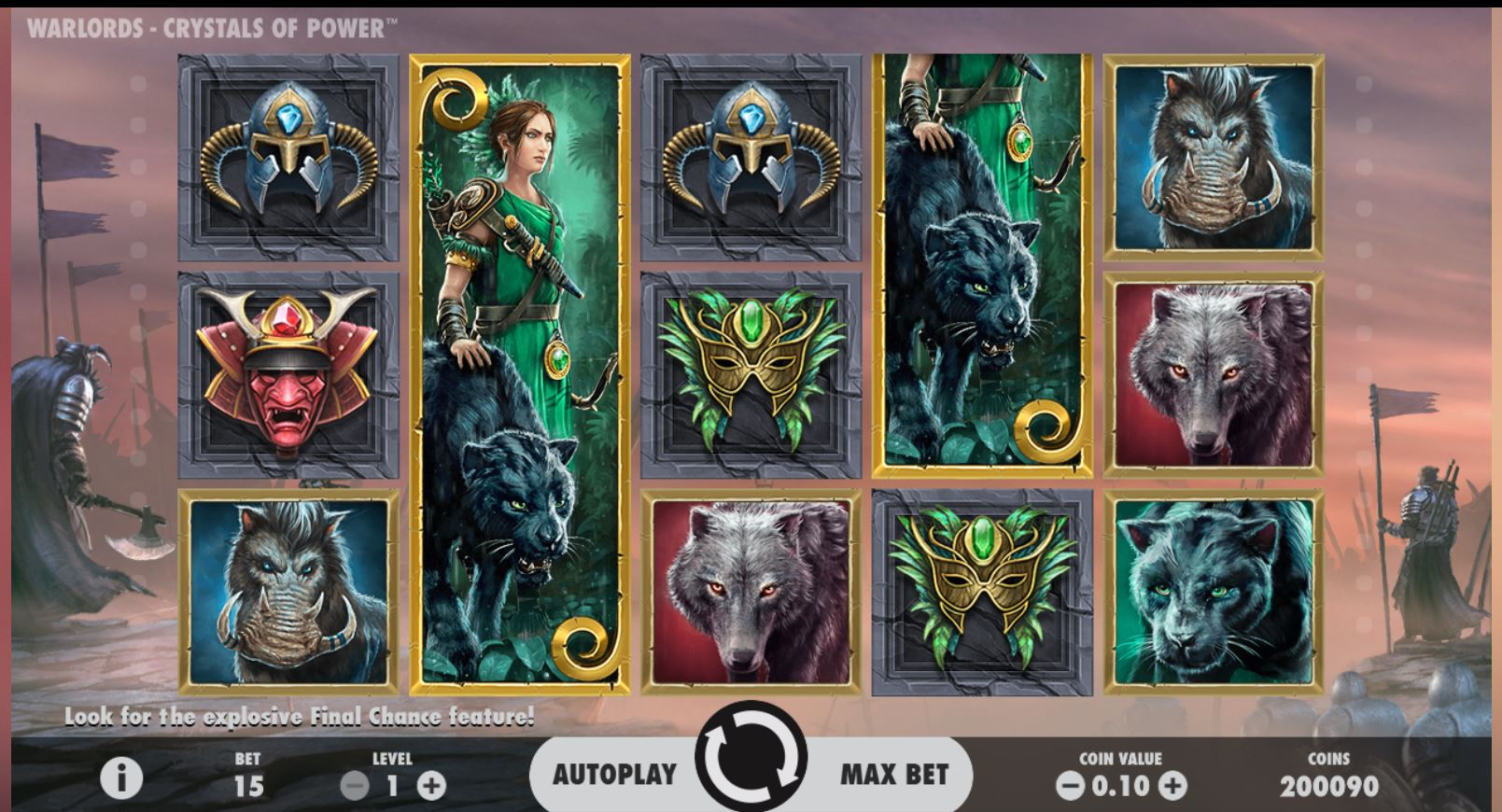 Warlords Crystal of Power Slot Game Symbols and Winning Combinations