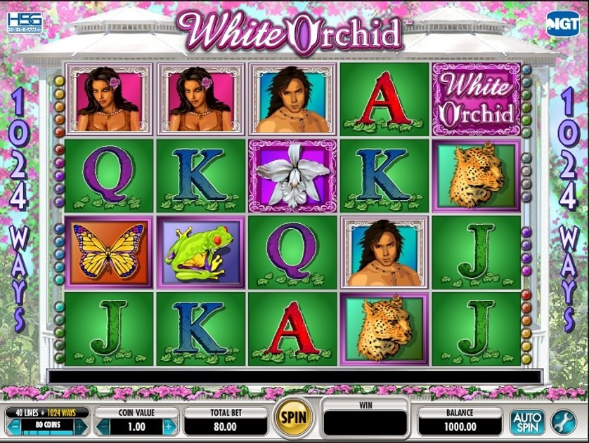 White Orchid Slot Machine - How to Play