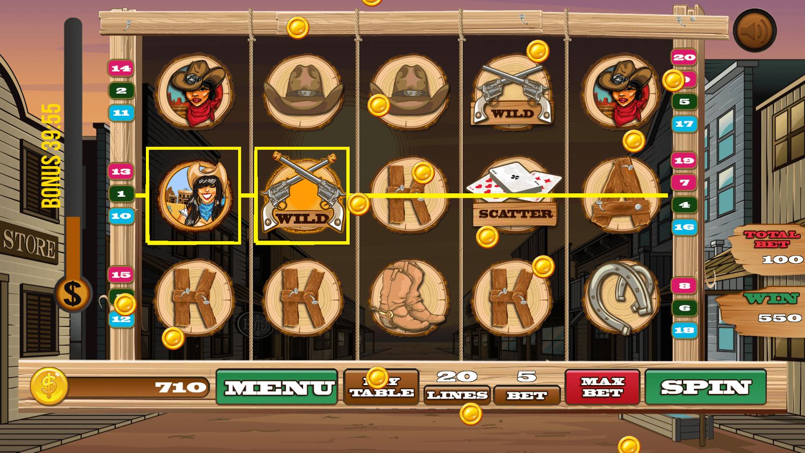 Wild Wild West Slot Machine - How to Play