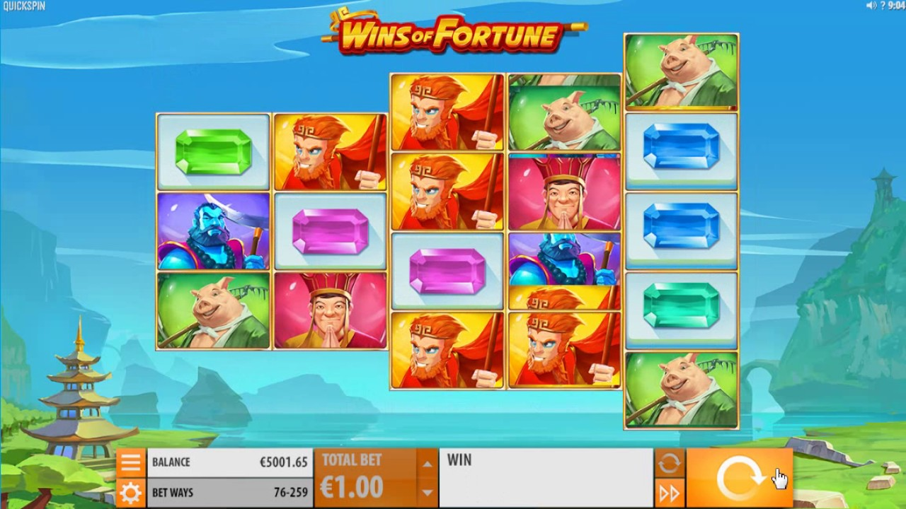 Wins of Fortune Slot Machine - How to Play