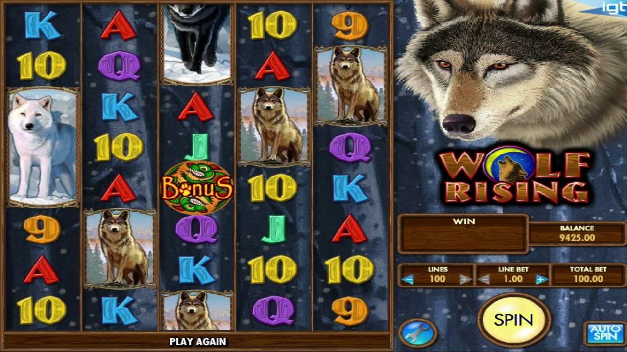 Wolf Rising Slot Machine - How to Play